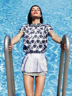 Eva Doll Makes a Splash in Nadine Ottawas Shoot for Friday Magazine