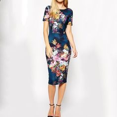 Gender: Women Waistline: Natural Sleeve Style: Regular Pattern Type: Print Material: Polyester,Spandex Dresses Length: Knee-Length Neckline: O-Neck Silhouette: Sheath Sleeve Length: Short 14 Day Hassl