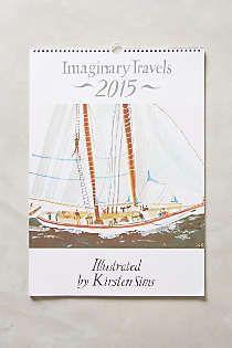 Anthropologie - Imaginary Travels 2015 Calendar