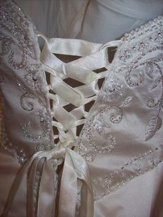 How to make a corset from a zippered dress that is too tight