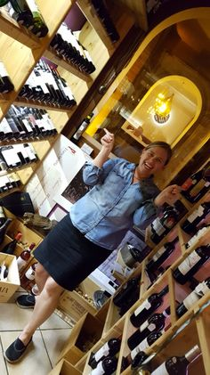 Having fun in the lovely wine room in La Cava dei Sapori in Lake Como! Wow... was it fun