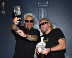 Guy Fieri partners with Sammy Hagar for rocker's latest tequila There are a few things I know: Great food killer drinks and wild times Fieri said in a press release. Chef Guy Fieri, Tequila Mixed Drinks, Sammy Hagar, Drinks Alcohol Recipes, Fireball Recipes, American Rappers, Van Halen, George Clooney, Lifestyle News