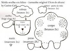 """Dicas pra Mamãe: Personagens de """"O Pequeno Príncipe"""" feitos de feltro com moldes"""