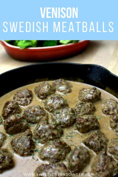 This recipe for Venison Swedish Meatballs is one of the best you will ever find. It& full of flavor and that wonderful creamy sauce we all know and love. Smoked Meat Recipes, Sausage Recipes, Cooking Recipes, Game Recipes, Moose Recipes, Cooking Game, Healthy Recipes, Cooking Oil, Dinner Recipes