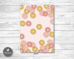 Donut invitation invite First 1st Birthday Party ideas Pink and gold theme