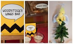 Woodstock Treats at a Charlie Brown Christmas Party #charliebrown #christmas
