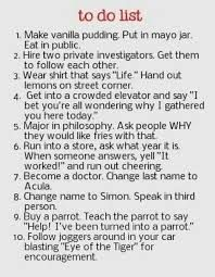 funny to do list - Google Search