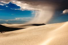 White Sands Storm - A wind storm rips through White Sands National Monument, New Mexico USA
