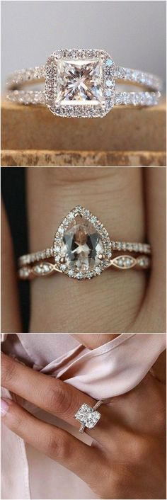 Wedding engagement rings for 2018 #wedding #weddingrings #engagementrings