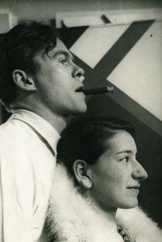 Cesar Domela et sa femme Ruth, 1930