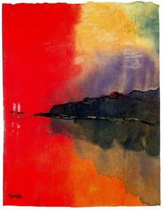 Emil+Nolde+-+Seacoast+_Red+Sky_+Two+White+Sails_.jpg 497×640 pixels