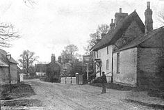 Old Photo of the Old Swan Pub in Bletchley Bucks England.