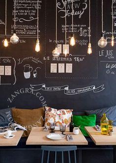 My industrial interior: Lamp met strijkijzersnoer
