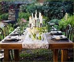Dinner Party Table Setting Ideas | Table settings, Tablescapes and ...