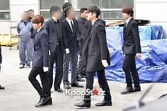 Super Junior Attends Funeral Ceremony of Leeteuk's Father and Grandparents - Jan 8, 2014 [PHOTOS] : Photos : KpopStarz