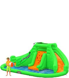 Blast Zone Crocodile Isle Inflatable Water Park video