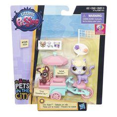 LITTLEST PET SHOP City Rides Delilah CAT Trixie MOUSE Fruit Cart Toy Set #ebay #littlestpetshop #catandmouse