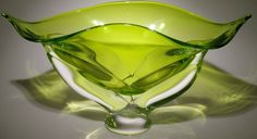 Hand blown murano glass bowl decoration
