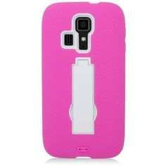Symbiosis Stand Case for Kyocera Hydro Icon / Life - Hot Pink/White