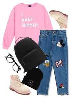"""""""Untitled #5"""" by lejlahurtic ❤ liked on Polyvore featuring Pull&Bear, Timberland, MANGO and KLP"""