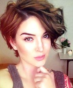 26 Cute Short Haircuts That Aren't Pixies - Hair - Voluminous Pixie-Bob, 26 Cute Short Haircuts That Aren& Pixies – (Page - Long Pixie Hairstyles, Haircuts For Wavy Hair, Cute Short Haircuts, Short Hair Cuts, Braided Hairstyles, Short Wavy Pixie, Short Asymmetrical Haircut, Pixie To Bob, Pixie Haircut For Thick Hair Wavy