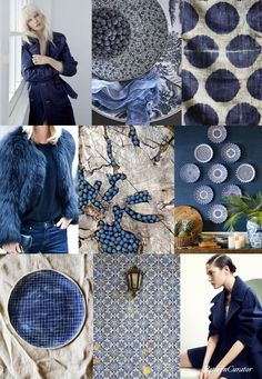 If you love a good moodboard prepare to lose yourself in the creative collages of Pattern Curator Colour Schemes, Color Trends, Color Patterns, Color Combinations, Pantone, Pattern Curator, Estilo Navy, Bleu Indigo, Colour Board