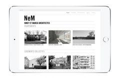 Studio-Studio_website & identity design for the Parisian Architecture practice Niney & Marca – Paris Nov. 2015