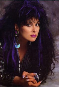 The beautiful and talented Ann Wilson of Heart, circa 1980s.