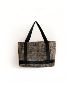 Brown and golden recycled PVC shoulder bag on Etsy, $133.42