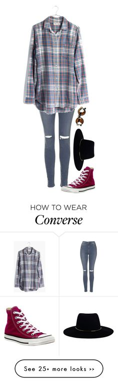 """Untitled #644"" by maxyyne on Polyvore featuring Topshop, Zimmermann, Converse and Madewell"