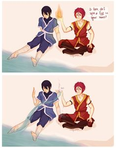 This is fucking hilarious. Avatar the last airbender and Free! Iwatobi crossover