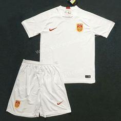 2018-19 China Team Away White Soccer Uniform 951428ac9