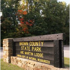 Brown County State Park entrance   The Indiana Insider Blog via Polyvore