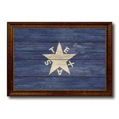 Texas History Lorenzo De Zavala Military Flag Texture Canvas Print Brown Picture Frame Home Decor Wall Art Gifts