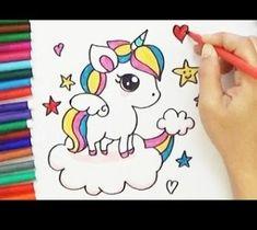 Comment dessiner une licorne kawaii dessin youtube kawaii pinterest comment dessiner - Comment dessiner un pegase ...