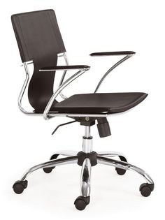 Zuo Modern Trafico Office Chair Trafico Office Chair Espresso Furniture Seating Office Chairs