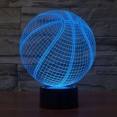 Atmosphere lamp 7 Color Changing Visual illusion LED Decor Lamp Basketball Home Table Decoration for Child Gift