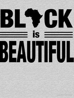 'Black Is Beautiful Africa Shape Ethnic Art' T-Shirt by blackartmatters I Love Being Black, Black Love Art, Black Girl Art, My Black Is Beautiful, Black Girl Magic, Black History Facts, Black History Month, Afrique Art, Black Art Pictures