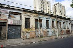 Abandoned houses at Porto Seguro street (Pari district)  Sao Paulo - Brazil