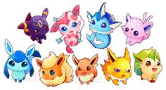 Eeveelution sticker set · white rabbit cafe · Online Store Powered ...