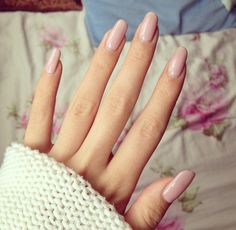 #long #nails #nude #pink #shellac