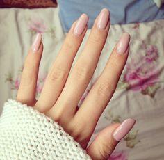 #long #nails #nude #pink #shellac