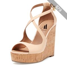 Ava & Aiden Darcy Strappy Cork Platform Wedge Sandal