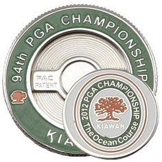 2012 PGA Championship 2 Sided Golf Ball Marker Poker Chip Style Kiawah Ocean