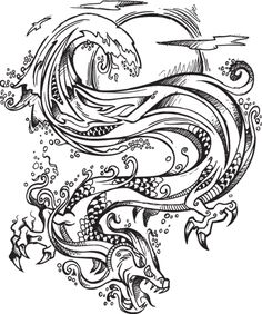 Find and save ideas about Chinese Dragon Tattoos Gallery on Tattoos Book. More than FREE TATTOOS Dragon Tattoo Stencil, Black Dragon Tattoo, Dragon Tattoo For Women, Chinese Dragon Tattoos, Dragon Tattoo Designs, Tattoo Stencils, Tattoo Designs Men, Sunflower Tattoo Shoulder, Small Shoulder Tattoos