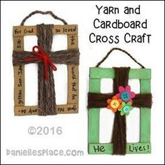 Cardboard and Yarn Cross Craft for Children's Ministry from www.daniellesplac… Cardboard and Yarn Cross Craft for Children's Ministry from www. Sunday School Activities, Church Activities, Sunday School Lessons, Sunday School Crafts For Kids, Good Friday Crafts, Children's Sunday School, Easter Crafts For Church Kids, Palm Sunday Craft, Bible Activities For Kids