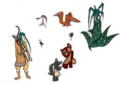 Character Designs and Illustrations by Charles Brock