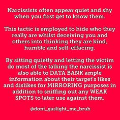 """WOKE TO NARCISSISM (@dont_gaslight_me_bruh) on Instagram: """"This is predominantly applicable to covert narcissists who are almost always publicly meek and…"""""""