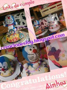 creaciones FOG: Tarta Doraemon