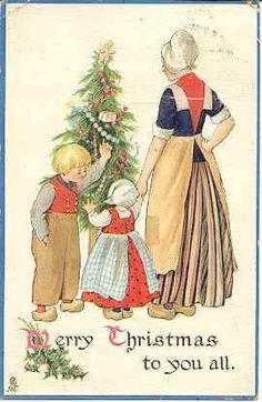 Dutch Christmas greeting post card